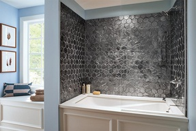 Elecdrix - Machine Gun Metal Hexagon Mosaic, Bath